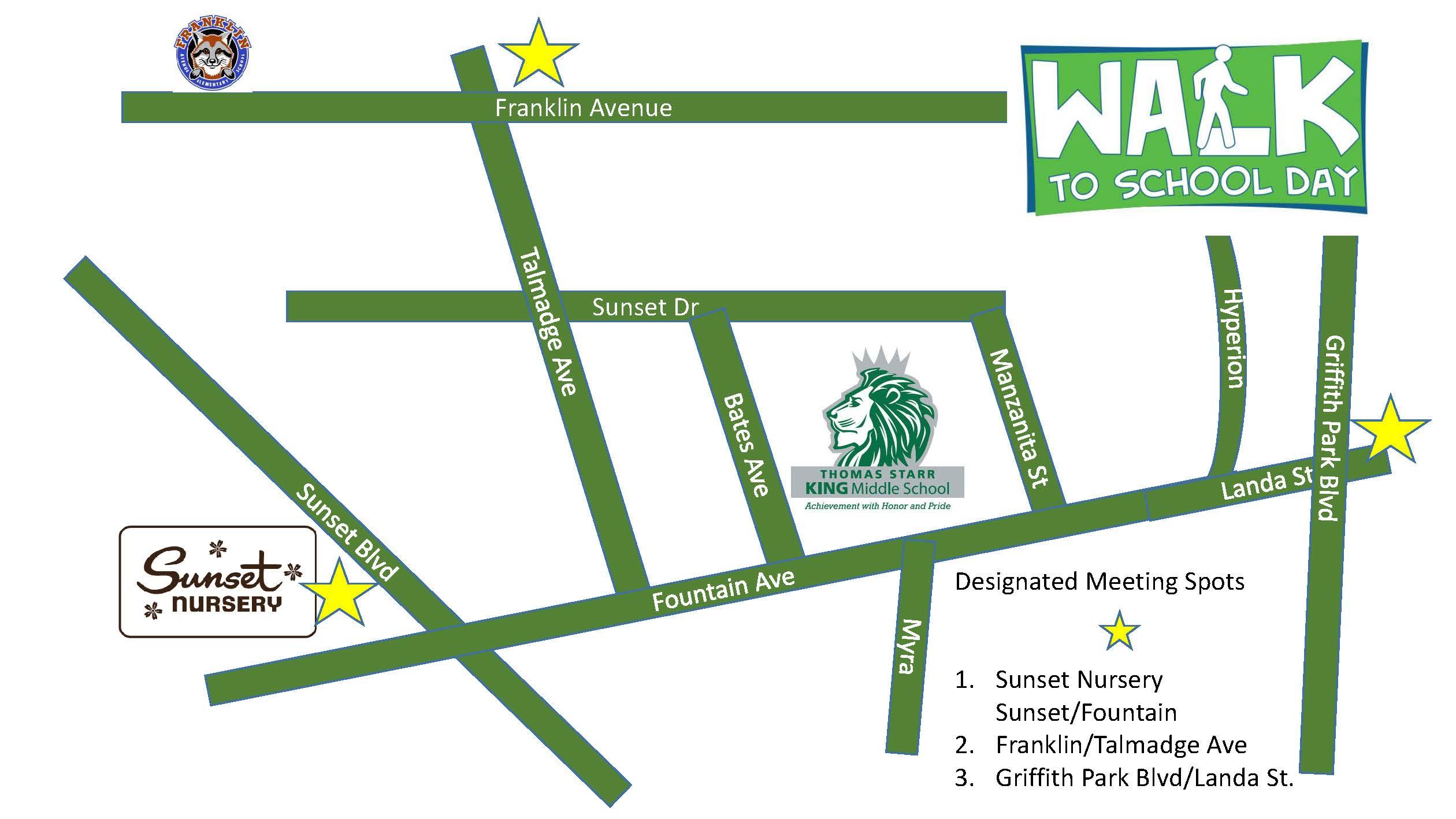 Walk to School Map
